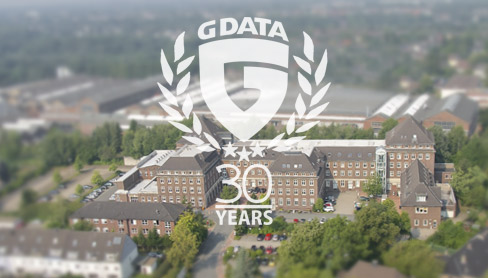 Luftbild des G DATA Campus in Bochum