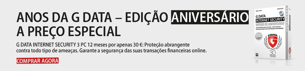G DATA INTERNET SECURITY EDIÇÃO ANIVERSÁRIO