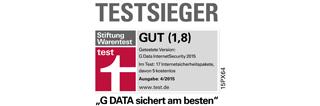 G DATA INTERNET SECURITY - Testsieger bei Stiftung Warentest